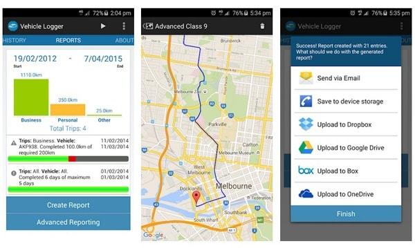 Vehicle logger logbook app