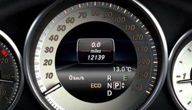 Car mileage meter