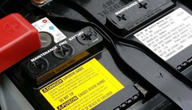 A maintenance free car battery
