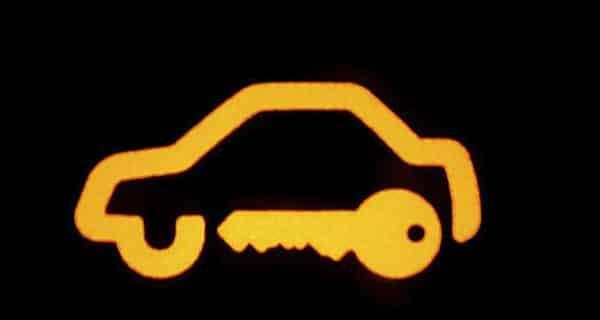 Car security warning light