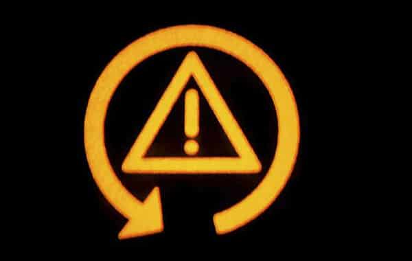 TCS (Traction Control System) warning light