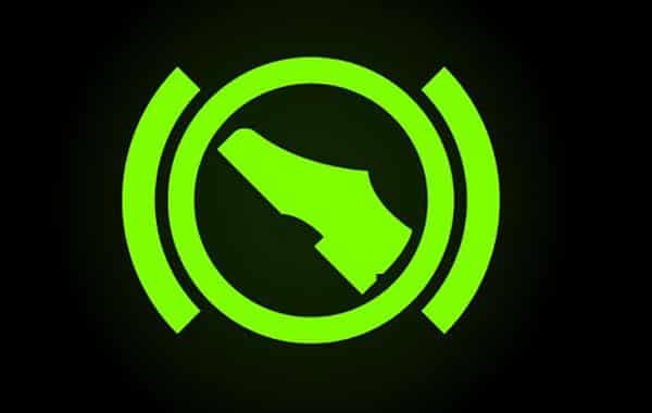 Push brake pedal indicator