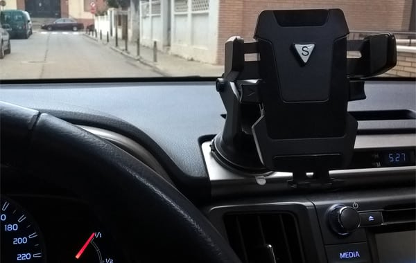 Keep your phone within your periphery with a phone mount.