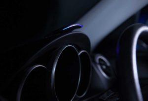 GOFAR ray mounted on the dashboard