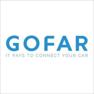 GOFAR blue and white tag line