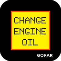 car oil change reminder safety symbol