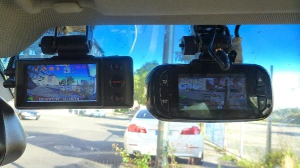 Two car cameras