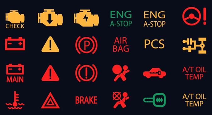 lexus warning light symbols