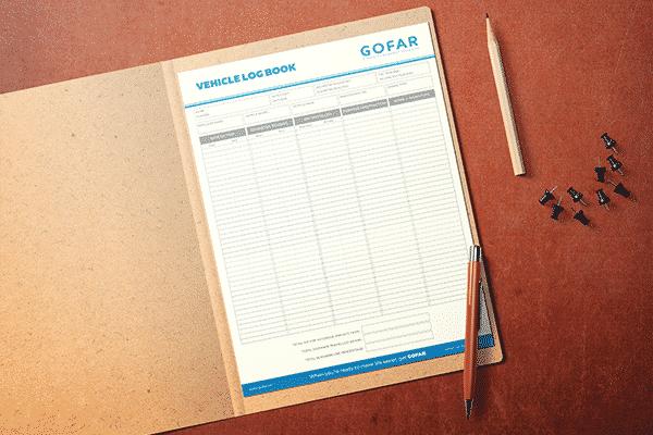 GOFAR vehicle logbook sheet