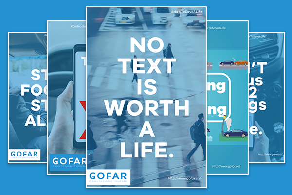 distracted driving road safety posters thumbnail