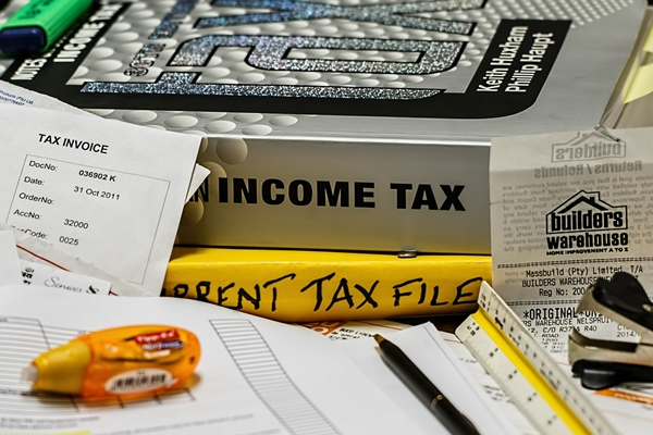 paper and books about income tax information