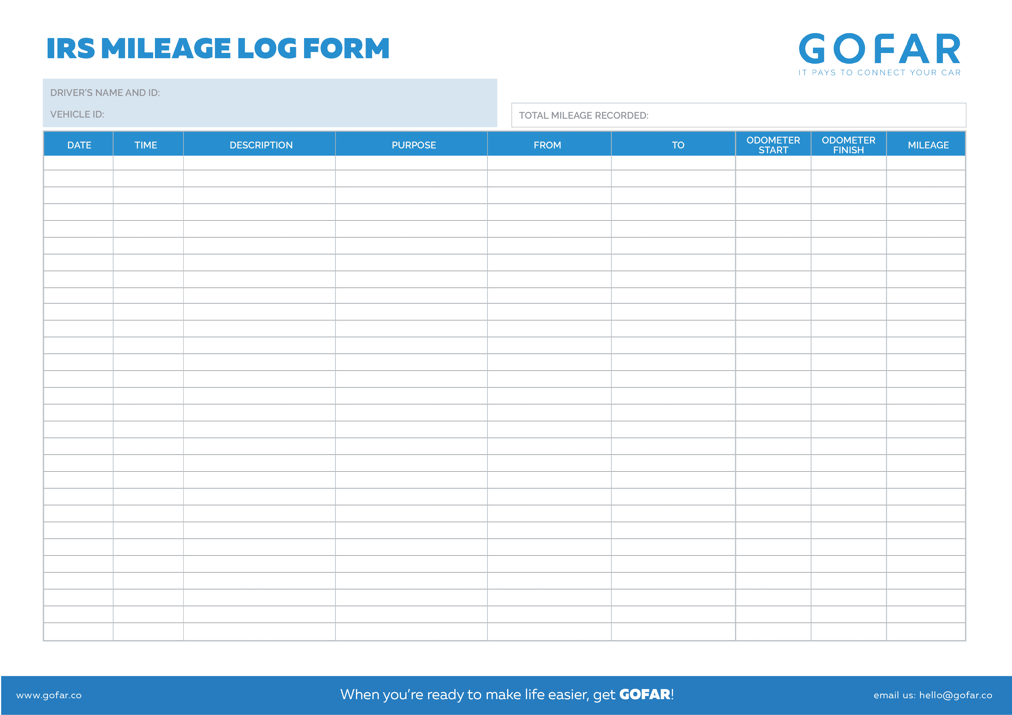 This is a graphic of Printable Mileage Log regarding log book