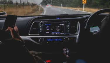 front view of a car's dashboard