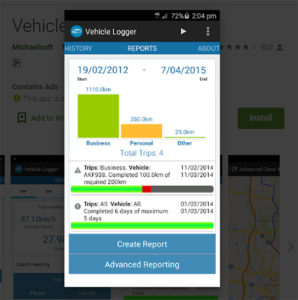 vehicle logger reports