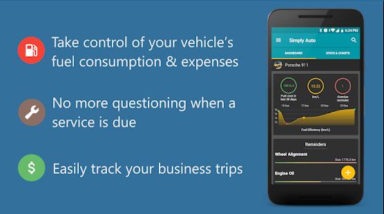 Simply Auto Mileage tracker app
