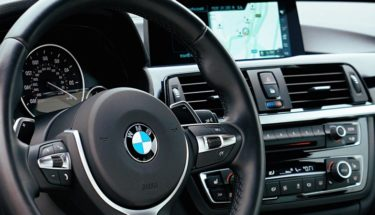 black bmw dashboard