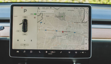 black tesla car GPS tracker