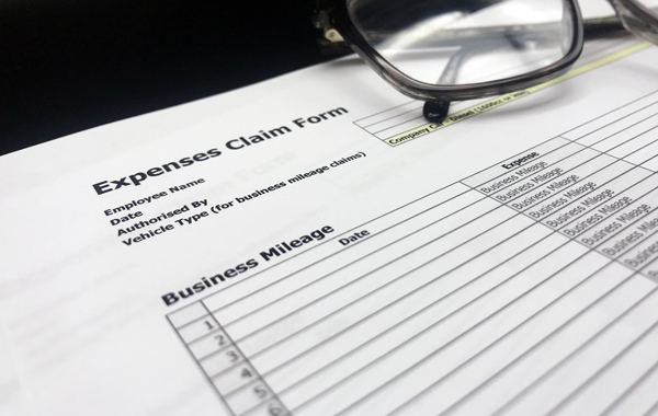 business mileage expenses claim form