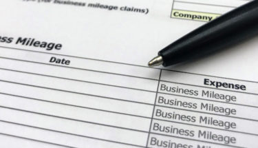 Expenses stock photo which shows a standard expense form